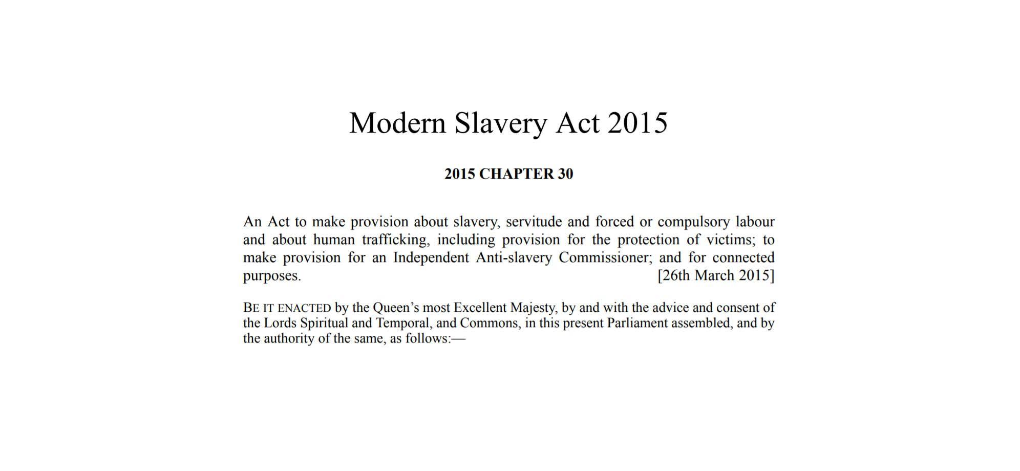 modern slavery act statement