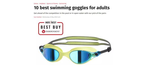 The Independent Names Speedo V-Class Swimming Goggles No.1
